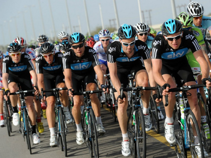 Christian Knees was once again a monster presence on the front : www.teamsky.com