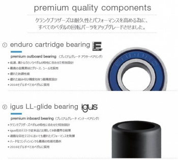 enduro cartridge bearing & igus LL-glide bearing