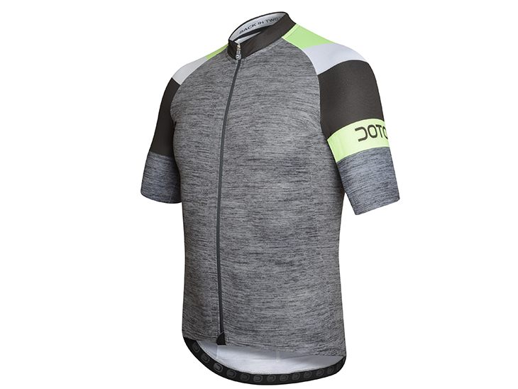 Oxygen Jersey dark grey-black-lime