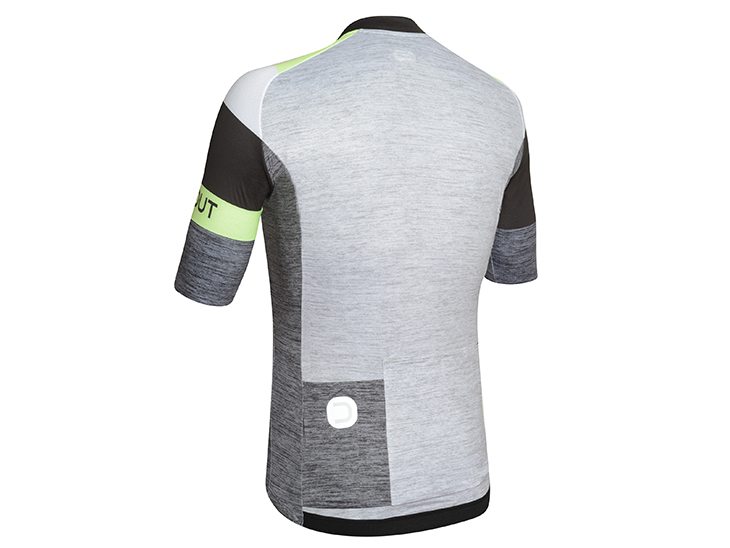 Oxygen Jersey dark grey-black-lime back
