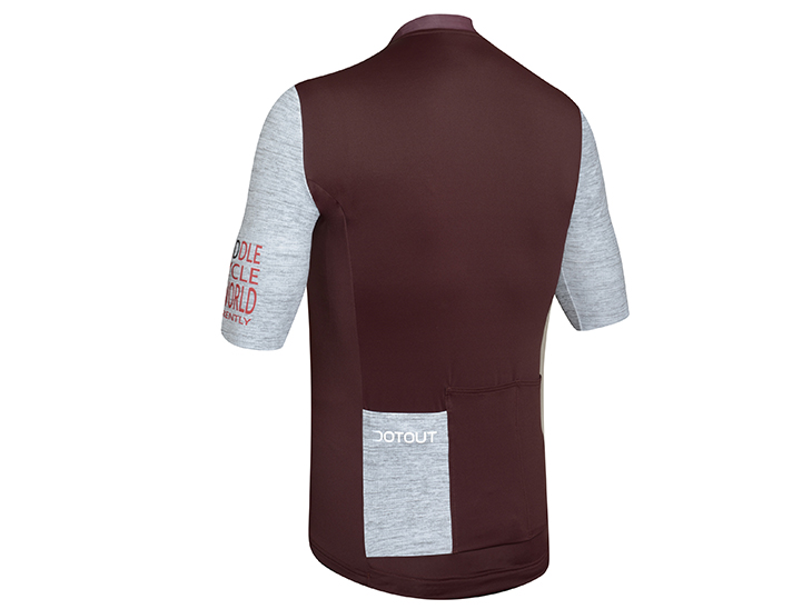Future Jersey bordeaux-melange light gray back