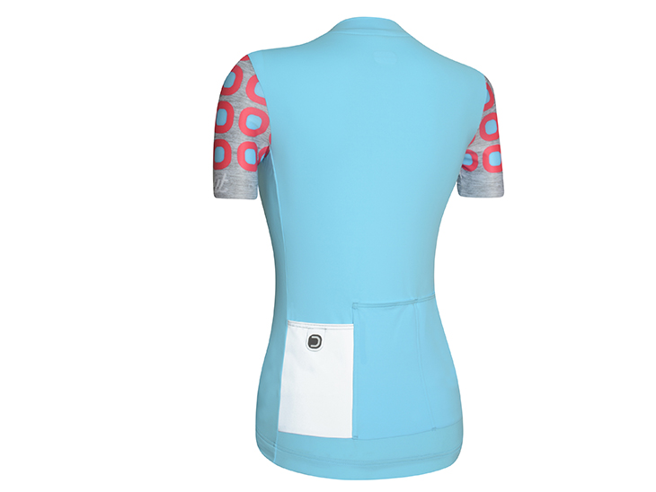 Dots W Jersey Light Blue Pink Back