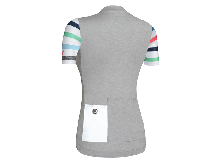 Touch W Jersey Melange Light Grey White Back