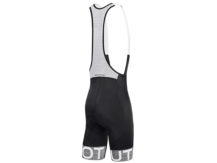 Team Bib Short Black Melange Drek Grey Back