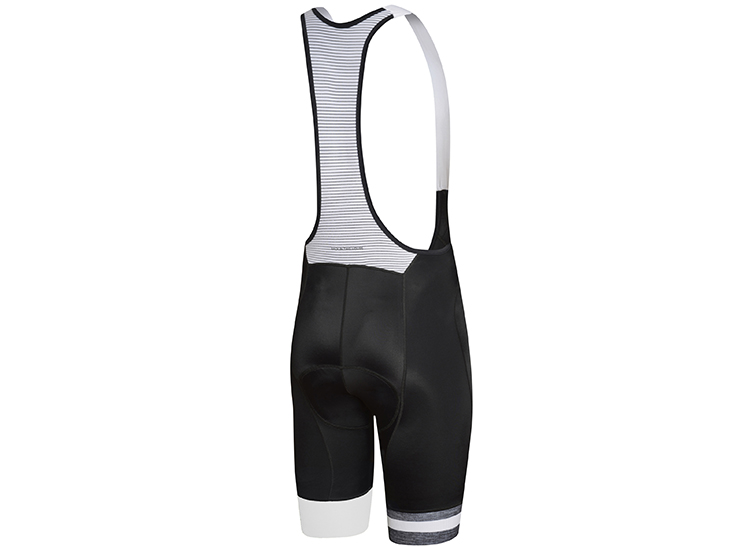 Team Bib Short Black White Back