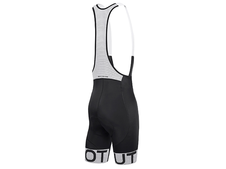 Team Bib Short Black Light Grey Back