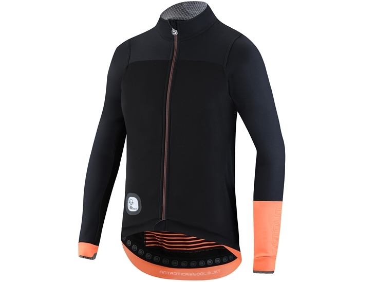 Antartica Wool Jacket Black Fluo Orange