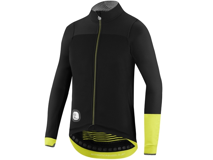 Antartica Wool Jacket Black Fluo Yellow