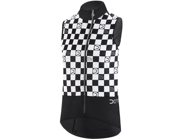 Breeze Vest Black White