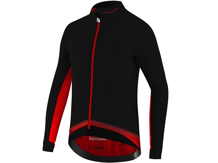 Le Maillot Jacket Black Red