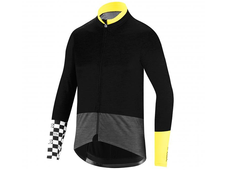 Mediterranea Wool Jacket Black Fluo Yellow