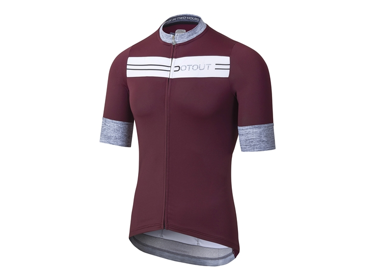 Stripe Jersey bordeaux-white